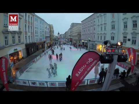 Eislaufen am Welser Stadtplatz - Eis8er Wels